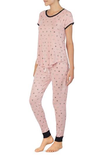 Room Service Jersey Pajamas, Pink