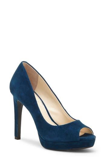 Jessica Simpson Dalyn Peep Toe Pump, Blue/green