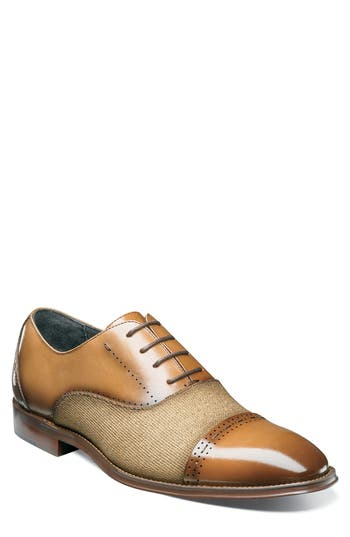 Stacy Adams Barrington Cap Toe Oxford, Brown