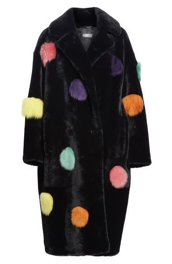 Anne Vest Acacia Genuine Shearling Coat, 4 DE - Black