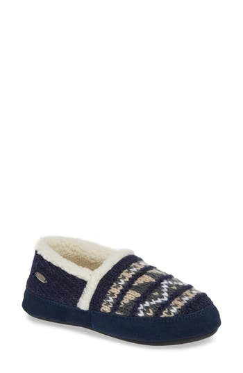 ACORN Nordic Moc Slipper, Nordic Blue Fabric