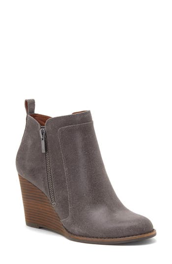Lucky Brand Yahir Wedge Bootie, Grey