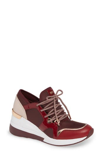 Scout Trainer Wedge Sneaker, Oxblood