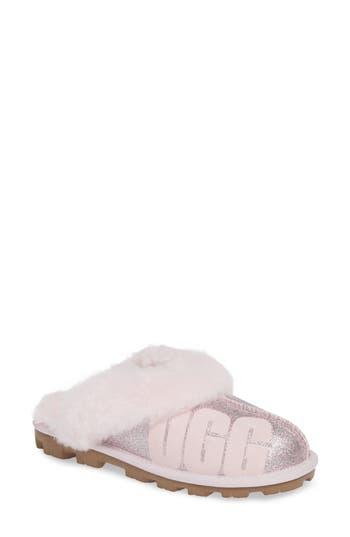 Ugg Sparkle Genuine Shearling Slipper, Pink