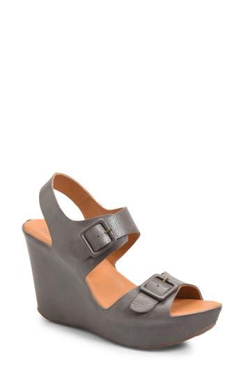 Kork-Ease Susie Wedge Sandal, Grey