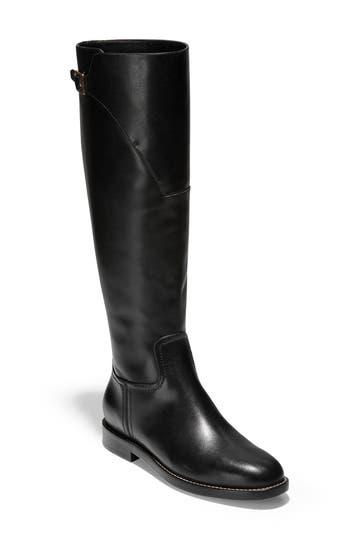 Cole Haan Harrington Knee High Riding Boot, Black