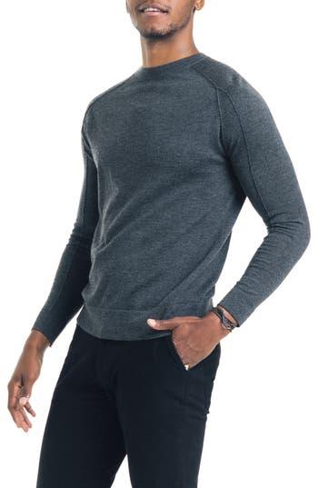 Good Man Brand Modern Slim Fit Merino Wool Sweater, Grey