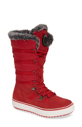 Santana Canada Tall Water Resistant Winter Boot, Red