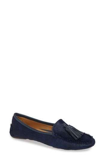 Ricky Genuine Calf Hair Loafer, Navy Calf Hair