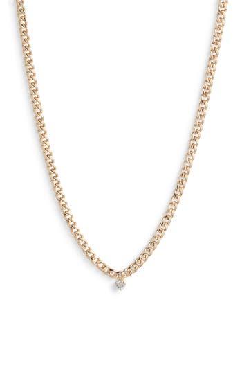 Zoe Chicco Diamond Curb Chain Necklace