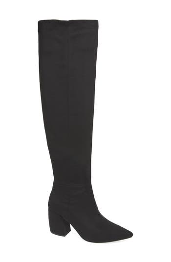 Jeffrey Campbell Final Slouch Over The Knee Boot, Black