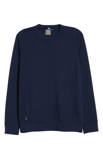 Icebreaker Shifter Merino Wool Blend Crewneck Sweater, Blue