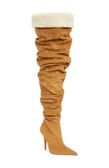 Jeffrey Campbell Igloo Slouchy Thigh High Boot, Brown