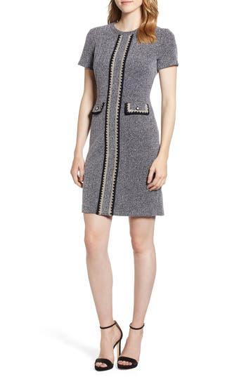 1960s Dresses | 60s Dresses Mod, Mini, Jakie O, Hippie Womens Karl Lagerfeld Paris Crochet Detail Tweed Dress $149.50 AT vintagedancer.com