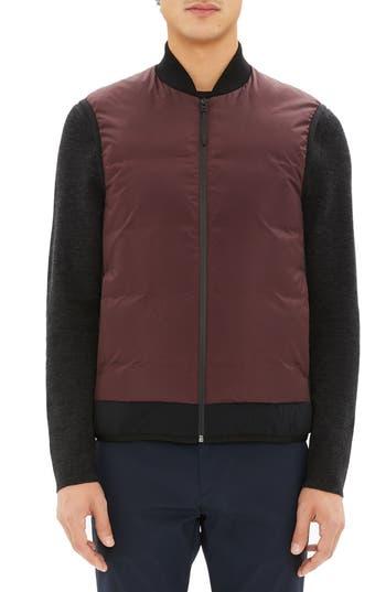 Theory Greene Regular Fit Vest, Burgundy