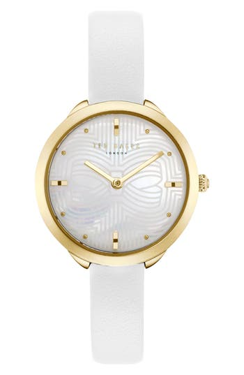 Ted Baker London Elena Leather Strap Watch, 30Mm