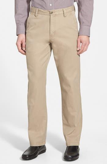 'Beckett' Straight Leg Washed Cotton Pants