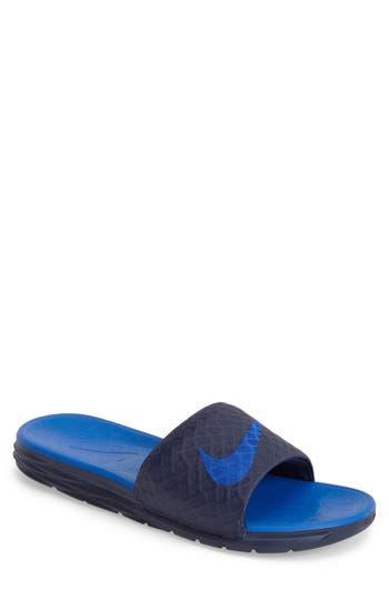 Nike  Benassi Solarsoft 2  Slide Sandal (Men) In Navy  1345597fcc5