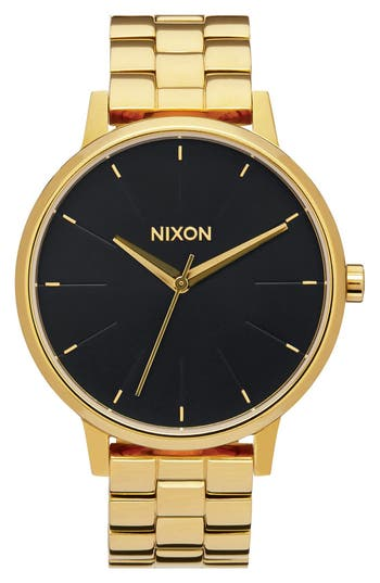 Women's Nixon 'The Kensington' Round Bracelet Watch, 37Mm