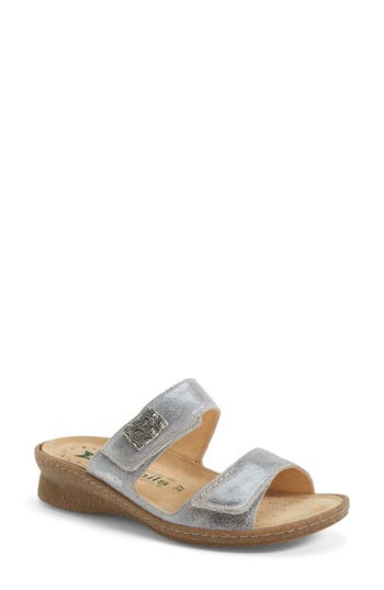 Women's Mephisto 'Bregalia' Metallic Leather Sandal