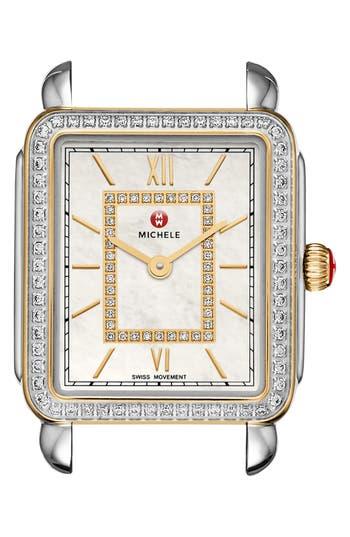 Women's Michele Deco Ii Mid Diamond Dial Watch Case, 26Mm X 28Mm