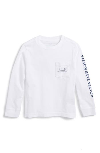 Toddler Boy's Vineyard Vines Vintage Whale Graphic Long Sleeve T-Shirt