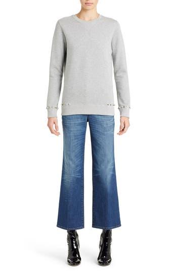 Women's Valentino Studded Crewneck Sweatshirt