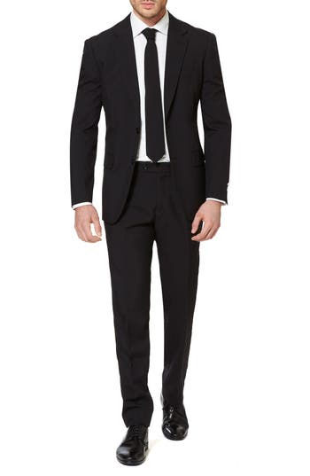 1960s Style Mens Suits- Skinny Suits, Mod Suits, Sport Coats Mens Opposuits Black Knight Trim Fit Two-Piece Suit With Tie $99.99 AT vintagedancer.com