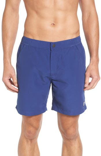 Men's Tom & Teddy Solid Swim Trunks