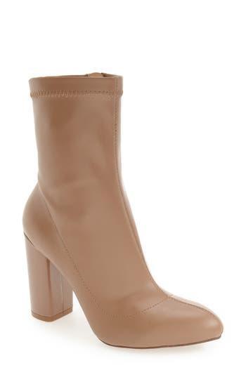Women's Daya By Zendaya 'Kathryn' Block Heel Zip Bootie, Size 8.5 M - Beige
