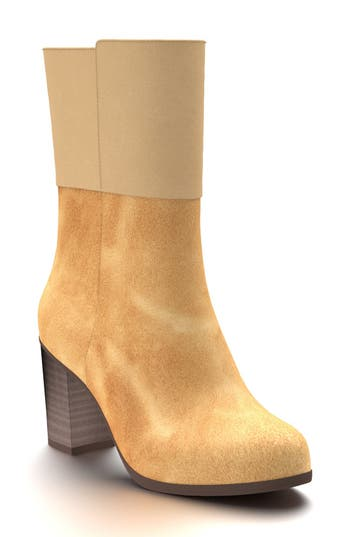 Shoes Of Prey Block Heel Boot, Brown