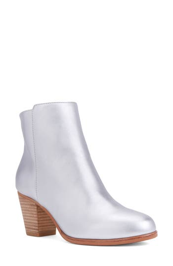 Shoes Of Prey Block Heel Bootie, Metallic