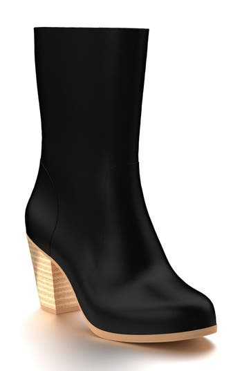 Shoes Of Prey Block Heel Boot - Black