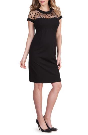 Vintage Style Maternity Clothes Womens Seraphine Zuri Maternity Dress Size 8 - Black $159.00 AT vintagedancer.com
