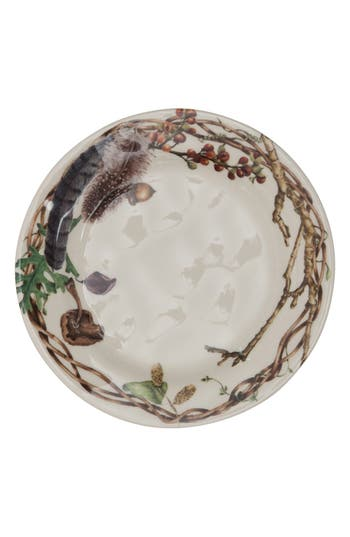 Juliska Set Of 4 Forest Walk Ceramic Party Plates