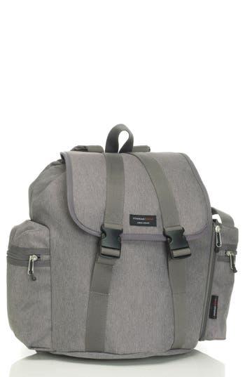 Infant Storksak Travel Backpack Diaper Bag - Grey