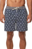 239392eb47 Mr. Swim Houndstooth Print Swim Trunks | Nordstrom