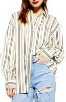 afedfe8af2f Topshop Stripe Casual Button Front Shirt
