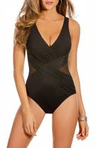 42fd2d394f Robin Piccone 'Penelope' Crochet Overlay One-Piece Swimsuit | Nordstrom